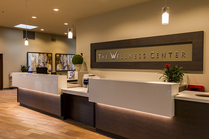image of Roseville Health & Wellness center front desk